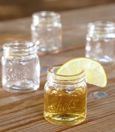 mason jar shot glasses @Danielle Lampert Lampert H does Nathan have this with his collection yet? Haha.