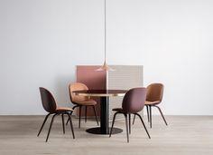 GUBI Beetle Chair, GUBI 2.0 Dining Table, Semi Pendant