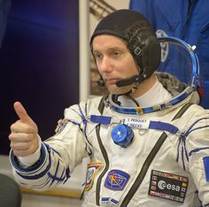 https://flic.kr/p/PH6VMJ | Expedition 50 Preflight | Expedition 50 ESA astronaut Thomas Pesquet is seen after donning his Russian sokol suit a few hours ahead of his launch on a Soyuz rocket with fellow crew mates, Russian cosmonaut Oleg Novitskiy of Roscosmos, and, NASA astronaut Peggy Whitson, Thursday, Nov. 17, 2016, in Baikonur, Kazakhstan. Whitson, Novitskiy, and Pesquet launched in their Soyuz MS-03 spacecraft to the International Space Station to begin a six-month mission. Photo…