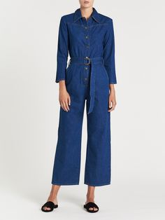 3c81d68f2483 Take a nod to the 70s with the M.i.H Jeans Harper All in One Jumpsuit in