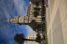The iconic building in Montevideo, Uruguay. It's by Plaza Independencia, and is a stand out amongst all buildings in Montevideo