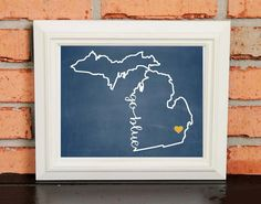 GO BLUE! College Pride Wall Art - Michigan Artwork - Go Blue - University of Michigan - Maize Yellow and Blue - Man Cave Artwork - College Decor - UNFRAMED Poster Print - Chalkboard Finish. Looking for a fun piece of art for your dorm room, office or man cave? This is it! - GO BLUE! College Pride Wall Art - Michigan Artwork - Go Blue - University of Michigan - Maize Yellow and Blue - Man Cave Artwork - College Decor - UNFRAMED Poster Print - Chalkboard Finish.