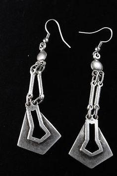 Ottoman Style Swingy Long Dangle Earrings