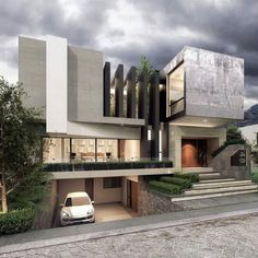 ✔ 39 new modern exterior design ideas for your house 32 > Fieltro.Net ✔ 39 new modern exterior design ideas for your house 32 > Fieltro. Modern Exterior House Designs, Modern Villa Design, Dream House Exterior, Modern Architecture House, Exterior Design, Architecture Design, Architecture Diagrams, House Front Design, Modern Mansion