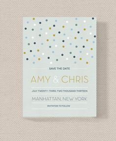 Custom Modern Confetti Save The Date Download by JDTradingCo, $15.00