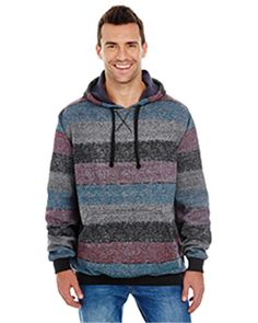 Burnside B8603 - Men's Printed Stripe Marl Pullover #burnside #mensfashion