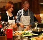 Love opens your heart but also your appetite, so what about taking a cooking class together?