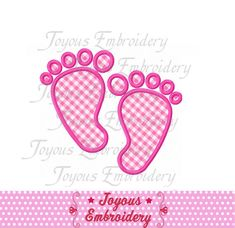 Instant Download Baby Footprint Applique by JoyousEmbroidery