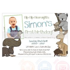 20 best australian outback party images on pinterest australian australian animal invitation personalised and printable piyinvitations filmwisefo