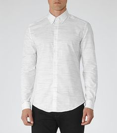 wholesale dealer 2a01c 8c068 Broken Stripe White Shirt Reiss, Vita Skjortor, Minimalistisk