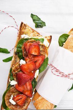 Colavita | Marinated Strawberry & Spinach Crostini