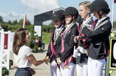 Princess Mary visited Vilhelmsborg Equestrian Center