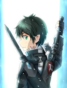 Kirito (Kazuto) - By Sword Art Online ღ Kirito Kirigaya, Kirito Asuna, All Anime, Manga Anime, Anime Art, Tous Les Anime, Sword Art Online Kirito, Another Anime, Awesome Anime