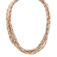 Multi colored pearl necklace.