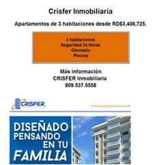 Apartamentos de 3 habitaciones desde RD$3,406,725. - Publicidad