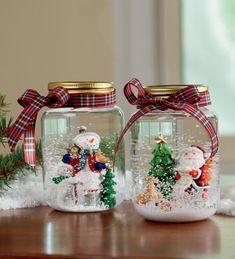 Ideias de Artesanatos de Natal com Potes de Vidro Reciclado | Reciclagem no Meio Ambiente
