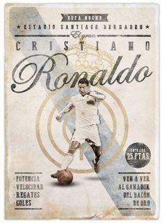 Cristiano Ronaldo retro poster by @EmilioSansolini