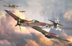 Blohm & Voss 155, high-altitude interceptor. . . Airplane Design, Airplane Art, Ww2 Aircraft, Military Aircraft, Luftwaffe, Military Art, Military History, Focke Wulf, War Thunder