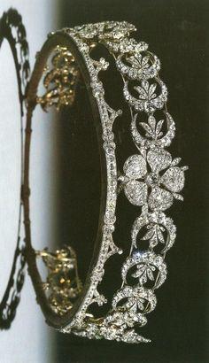 The Teck Crescent Tiara of Queen Elizabeth II.