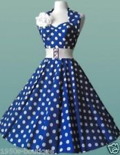 Vintage 1950s 60s Swing Rockabilly Black / Red Polka Dot Evening Party Dress