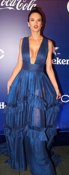 Alessandra Ambrosio in Dress – Maria Lucia Hohan  Shoes – Zanotti