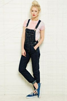 Vintage Renewal Tapered Denim Dungarees at Urban Outfitters by DaisyCombridge