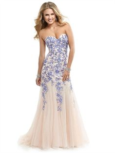 Hot Sale Slim A-line Sweetheart Corset Lace Tulle Long Prom Dress PD2805