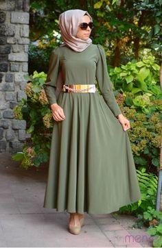Dilber Tesettür Elbise 4585-01 Haki Yeşil Tesettür Modeli ile ilgili tüm detayları buradan inceleyebilirsiniz  41 TL