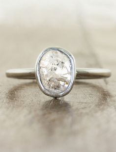 Rough Diamond Engagement Rings by Ken & Dana Design in NYC