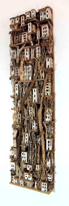 White Wood Village by Eric Cremers, from Art Fusion Galleries available at www.globalarttraders.com