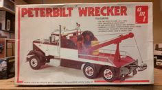 Vintage RARE AMT 1 25 Peterbilt Wrecker Semi Truck Model Kit T533 | eBay