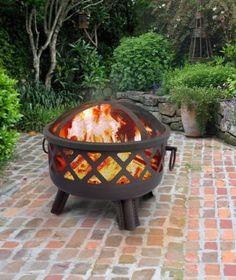 Garden Lights Sarasota Fire Pit in Black