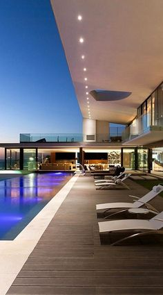 modern hotel pool and spa area.