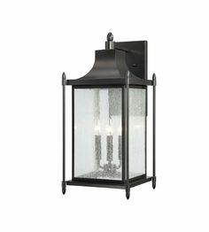 Savoy House Dunnmore 3 Light Outdoor Wall Lantern in Black 5-3453-BK