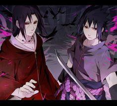 Itachi and Sasuke Sasuke Uchiha, Anime Naruto, Shikamaru, Naruto Art, Naruto Shippuden Anime, Gaara, Hinata, Sasunaru, Narusasu