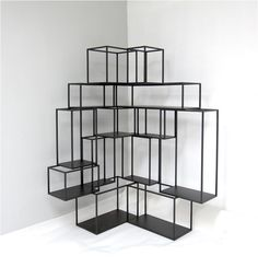 'corner blocks' display shelf / screen - by Nathan Yong for Grafunkt