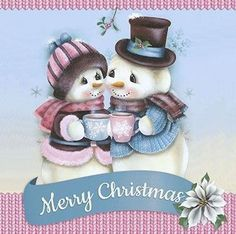 Snowman ❄️ Snow Woman ❄️ Merry Christmas Christmas Rock, Merry Christmas And Happy New Year, Pink Christmas, Christmas Signs, Christmas Pictures, Christmas Snowman, Christmas Greetings, Christmas Crafts, Snowman Clipart