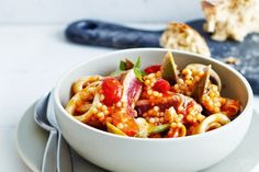Tuna With Pearl Couscous Recipe - Taste.com.au