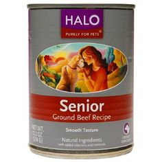 Dog Foods, Purely For Pets Senior, Ground Beef By Halo 13.2 oz *** Visit the image link more details. (This is an affiliate link) #DogFood