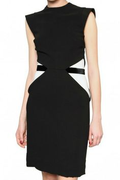 Givenchy Bicolor Stretch Cady Dress