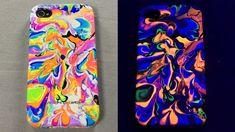DIY Water Marble Phone Case & Tutorial! (iPhone 6s, 5s, 4s) + Blacklight