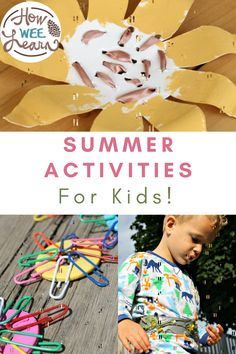 Wondering what to do with the kids this summer at home? Here you go! These are the best summer crafts and summer activities to do at home with the kids. Nice and easy and tons of fun for the siblings of all ages. Quiet Time Activities, Science Activities For Kids, Stem Activities, Summer Science, Summer Crafts For Kids, Happy Summer, Arts And Crafts Projects, Summer Treats, Some Fun