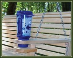 Cypress Porch Swing With Cup Holders