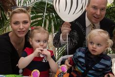 12-10-16 Gert's Royals (@Gertsroyals) on Twitter: Princess Gabriella and Prince Jacques of Monaco celebrate their 2nd birthdays today, December 10, 2016 (b. December 10, 2014); earlier this week they had a jungle-themed party, here with mom and dad, Princess Charlene and Prince Albert