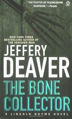 The Bone Collector (A Lincoln Rhyme Novel) by Jeffery  Deaver, http://www.amazon.com/dp/0451188454/ref=cm_sw_r_pi_dp_od6Spb1N4DSQJ