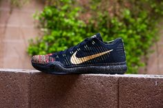 These fiery Kobe 10's were released December 26 2015 featuring a multi-colored flyknit and gold-splattered soles in celebration of Kobe's success. An amazing looking shoe to ball in or simply wear out