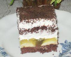 Moje pyszne, łatwe i sprawdzone przepisy :-) : Ciasto jamajka-z bananami, bitą śmietaną i galaret...
