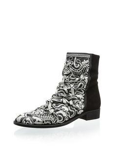 53% OFF Plomo Women's Nuu Flat Cowboy Boot (Black)