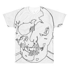 Wireframe Skull and Crossbones a valentino unlimited design A comfortable and lightweight polyester v-neck t-shirt, made of a fine count yarn. Wireframe, Skull And Crossbones, 30 And Single, Fabric Weights, Vivid Colors, V Neck T Shirt, Menswear, Catacombs, How To Make