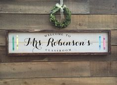Excited to share this item from my shop: Teacher name sign, classroom decor, framed shiplap wood sign Lake House Signs, Cottage Signs, Wood Name Sign, Wood Signs, Teacher Name Signs, Shiplap Wood, Wood Wedding Signs, Rustic Chair, Home Decor Signs
